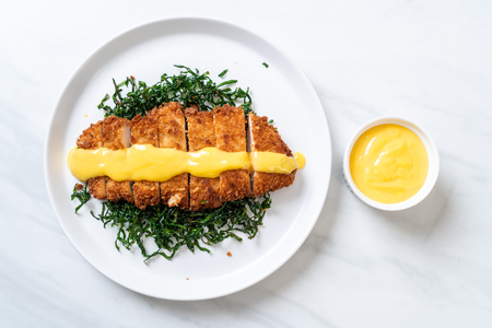 fried chicken breast with lemon lime sauce