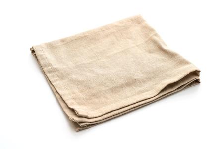 Küchentuch (Serviette) isoliert auf weißem Hintergrund Standard-Bild