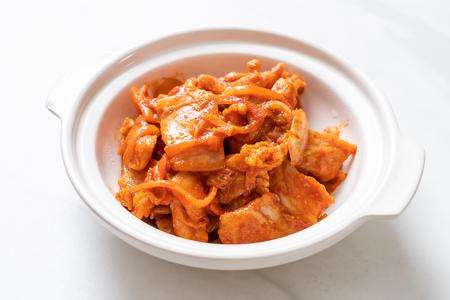 stir-fried pork with kimchi - korean food style Stock Photo
