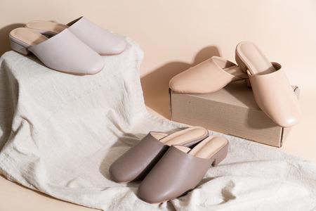 Beautiful woman fashion leather shoes Reklamní fotografie