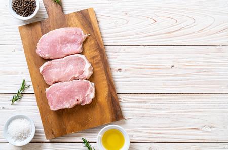 fresh pork raw on cutting board Stock fotó