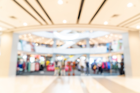 abstract blur shopping mall for background