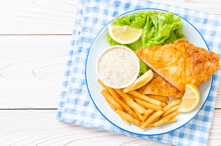 fish and chips - nourriture malsaine Banque d'images