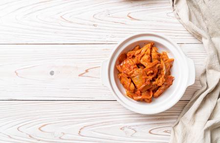 stir-fried pork with kimchi - korean food style