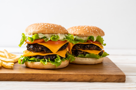 homemade and fresh tasty burger with cheese