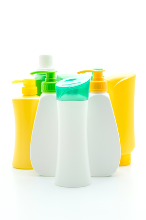 shampoo or hair conditioner bottle isolated on white background 스톡 콘텐츠
