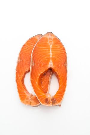 fresh salmon raw isolated on white background Stok Fotoğraf - 123337737