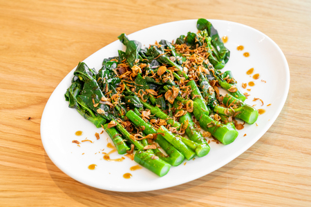 Stir fried Chinese broccoli or Kale in oyster sauce - asian food style