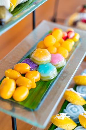 Thai traditional dessert on plate