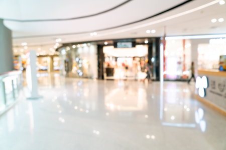 Abstract blur and defocused shopping mall or department store interior