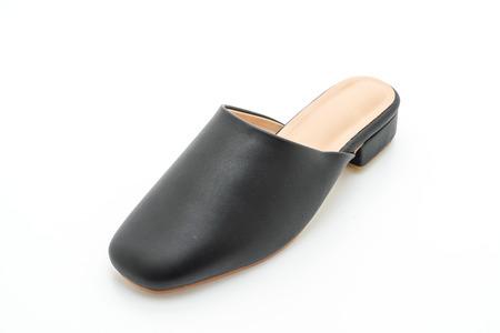 woman fashion leather shoe isolated on white background