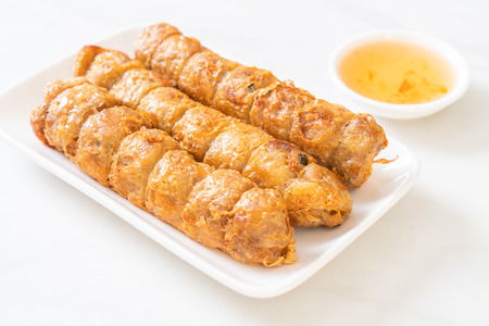 Deep Fried Crab Meat Rolls - Chinese food style Stok Fotoğraf - 124769968