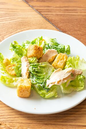 caesar salad with chicken - healthy food style