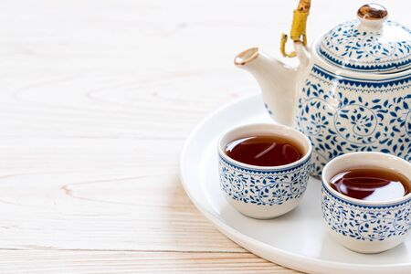 close-up beautiful Chinese tea set