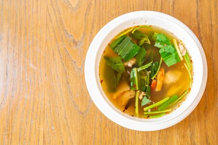 Spicy soup with Pork spare ribs - Thai local  food style