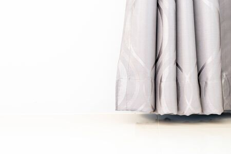 beautiful curtain with copy space for background