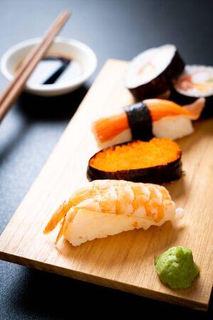 mix sushi set - Japanese food style Reklamní fotografie - 124896026