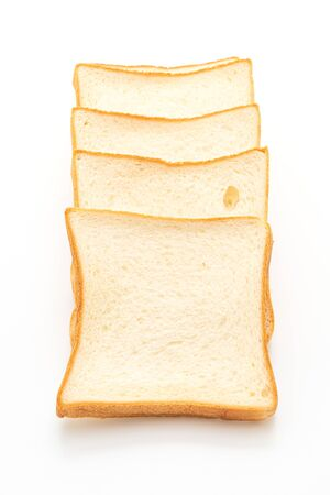 slices bread isolated on white background