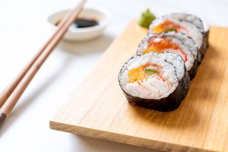 mix sushi roll maki - japanese food style