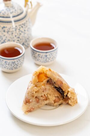 Traditional Chinese Sticky Rice Dumplings - Asian food style
