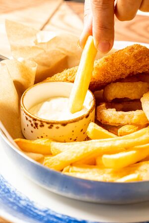French fries dipping sauce - unhealthy food