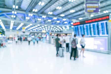 Abstract blur and defocused airport terminal interior for background Reklamní fotografie