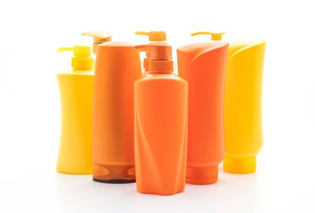 shampoo or hair conditioner bottle isolated on white background Фото со стока