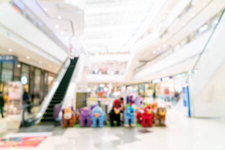 Abstract blur and defocused shopping mall or department store interior for background