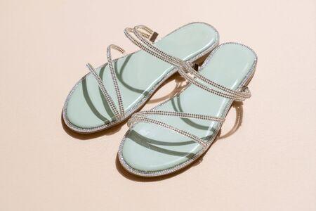 beautiful woman fashion shoes or sandals Stock fotó