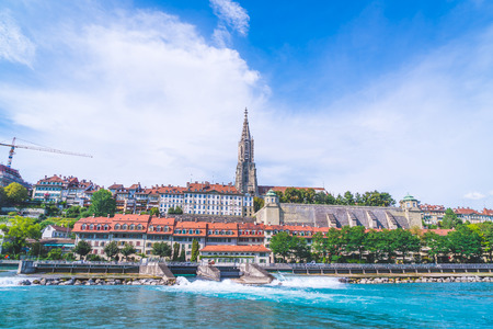 Beautiful Architecture at Bern City and Berner Munster cathedral in Switzerland Éditoriale