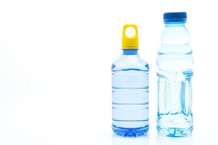 water bottle isolated on white background Banco de Imagens - 128415348