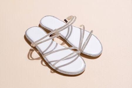 beautiful woman fashion shoes or sandals Zdjęcie Seryjne