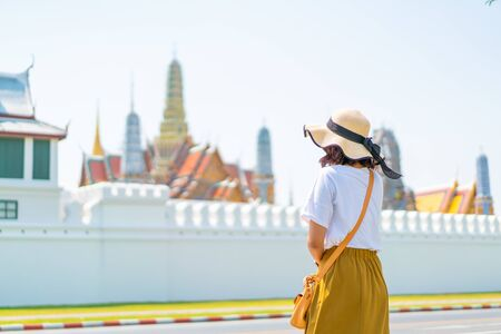Happy Asian Woman Travel in Thailand - vacations concept Stock Photo - 128772041