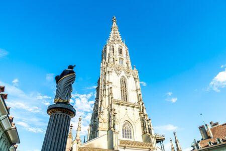 Beautiful Architecture at Berner Munster cathedral in Switzerland Zdjęcie Seryjne