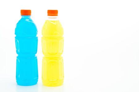 Electrolyte drink bottle isolated on white background