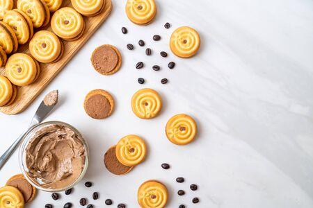 sandwich cookies with coffee cream