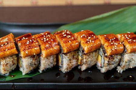 Eel (unagi) sushi roll - japanese food style