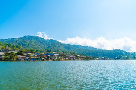 Ban Rak Thai, a Chinese settlement in Mae Hong Son province, Northern Thailand. Stock Photo