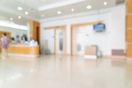 Sfocatura astratta e sfocatura in ospedale