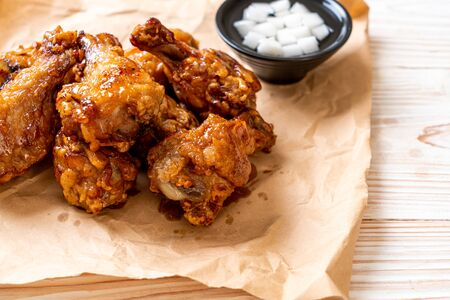 Fried chicken with sauce in Korean style Stock Photo - 128746027