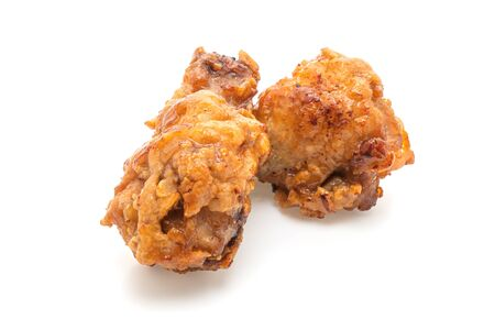 Fried chicken isolated on white Stock Photo - 128745555
