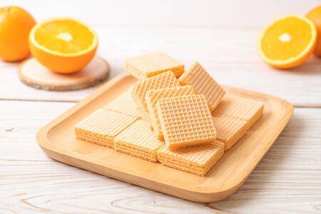 wafer with orange cream flavor