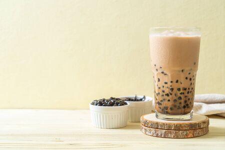 Taiwan milk tea with bubbles - popular Asian drink