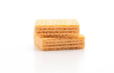 wafer biscuit with orange cream isolated on white background Zdjęcie Seryjne