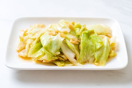 Stir-Fried Cabbage with Fish Sauce - Asian food style
