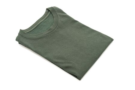 folded t-shirt isolated on white background Stok Fotoğraf