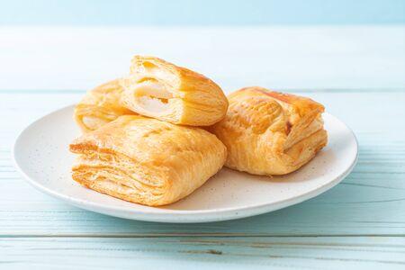 Homemade Toddy Palm Pie  on white plate Banco de Imagens