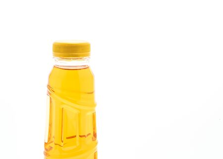 bottle of ice tea and green tea isolated on white background