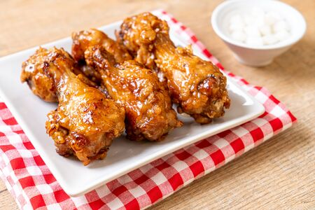 fried chicken with sauce in Korean style Stock Photo - 129541102