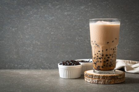Taiwan milk tea with bubbles - popular Asian drink